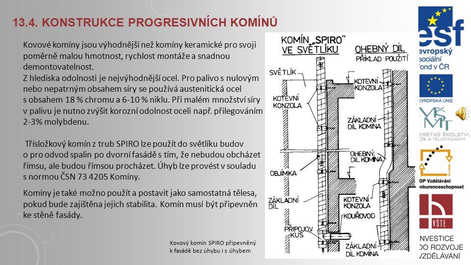 13.4. Konstrukce progresivních komínů