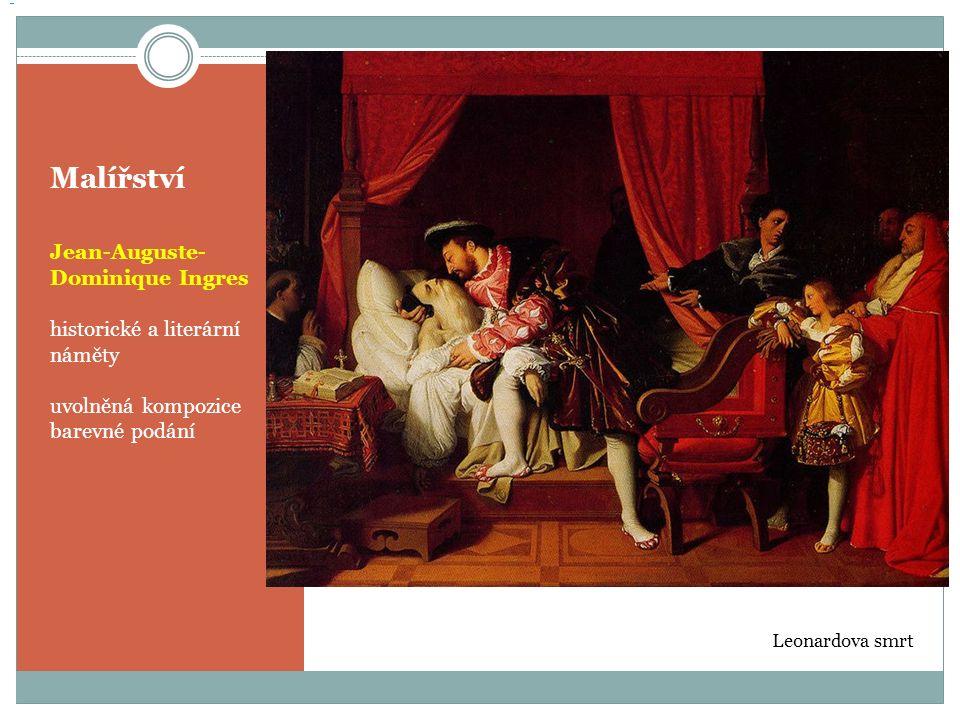 Malířství Jean-Auguste-Dominique Ingres historické a literární náměty
