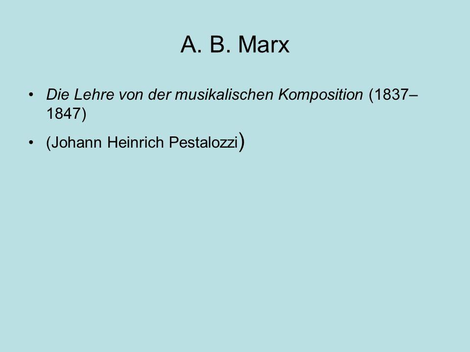 A. B. Marx Die Lehre von der musikalischen Komposition (1837–1847)