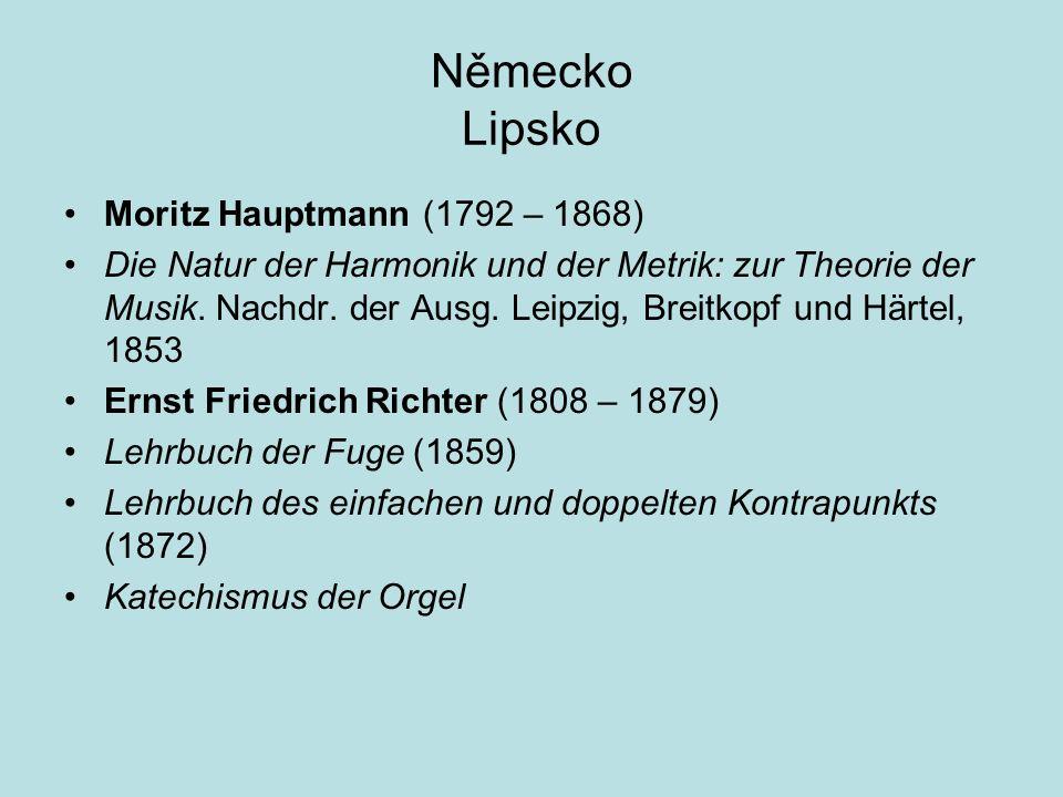 Německo Lipsko Moritz Hauptmann (1792 – 1868)