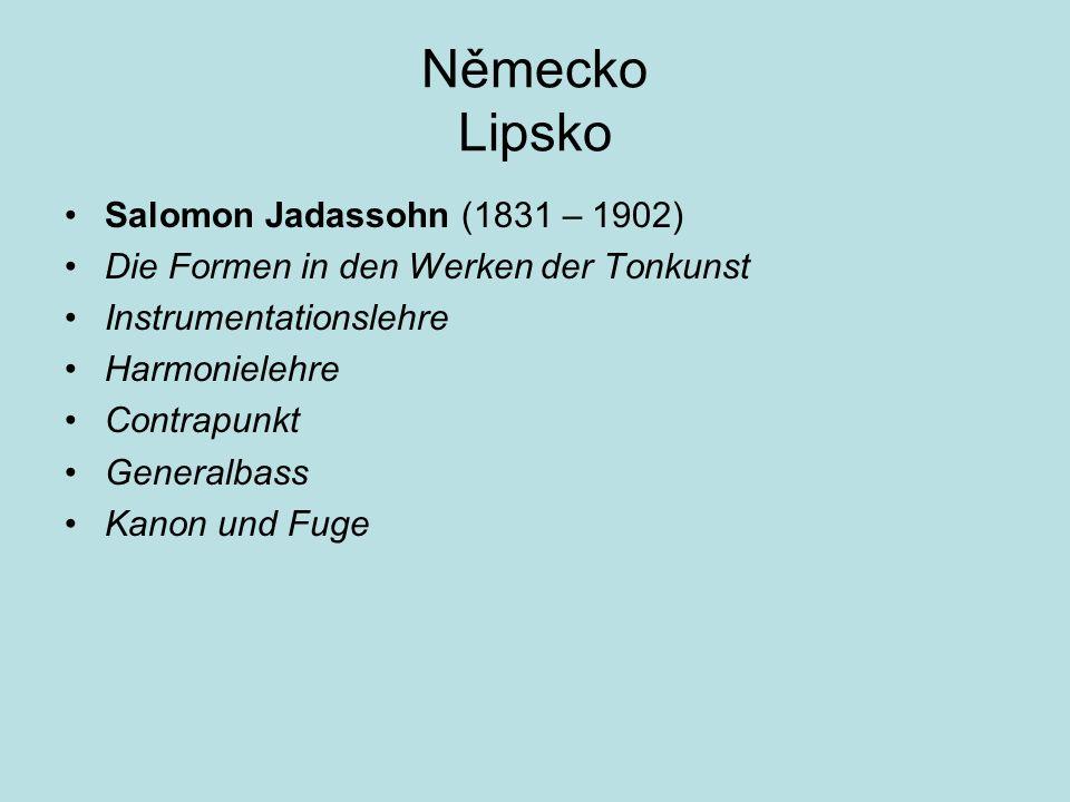 Německo Lipsko Salomon Jadassohn (1831 – 1902)