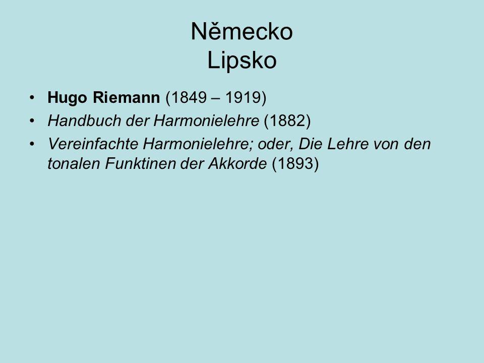 Německo Lipsko Hugo Riemann (1849 – 1919)