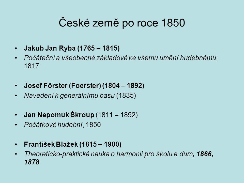 České země po roce 1850 Jakub Jan Ryba (1765 – 1815)