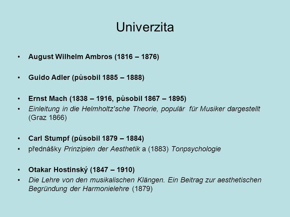 Univerzita August Wilhelm Ambros (1816 – 1876)