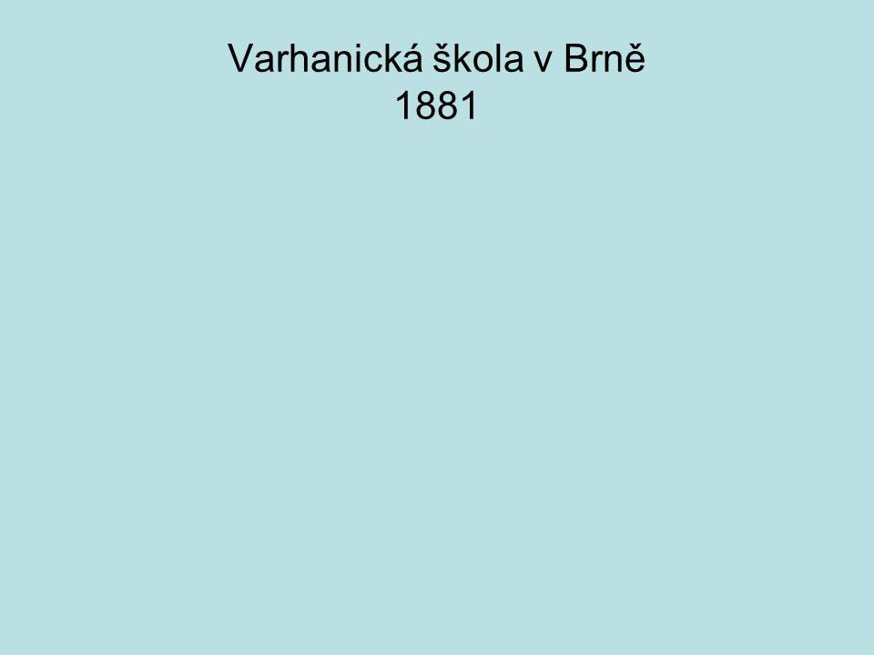Varhanická škola v Brně 1881