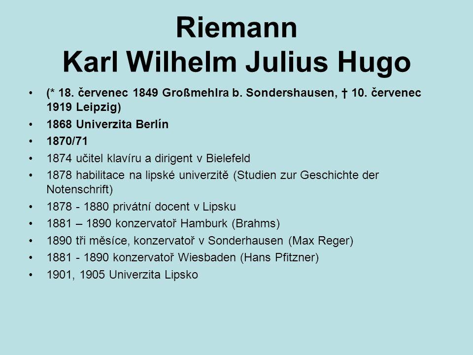 Riemann Karl Wilhelm Julius Hugo