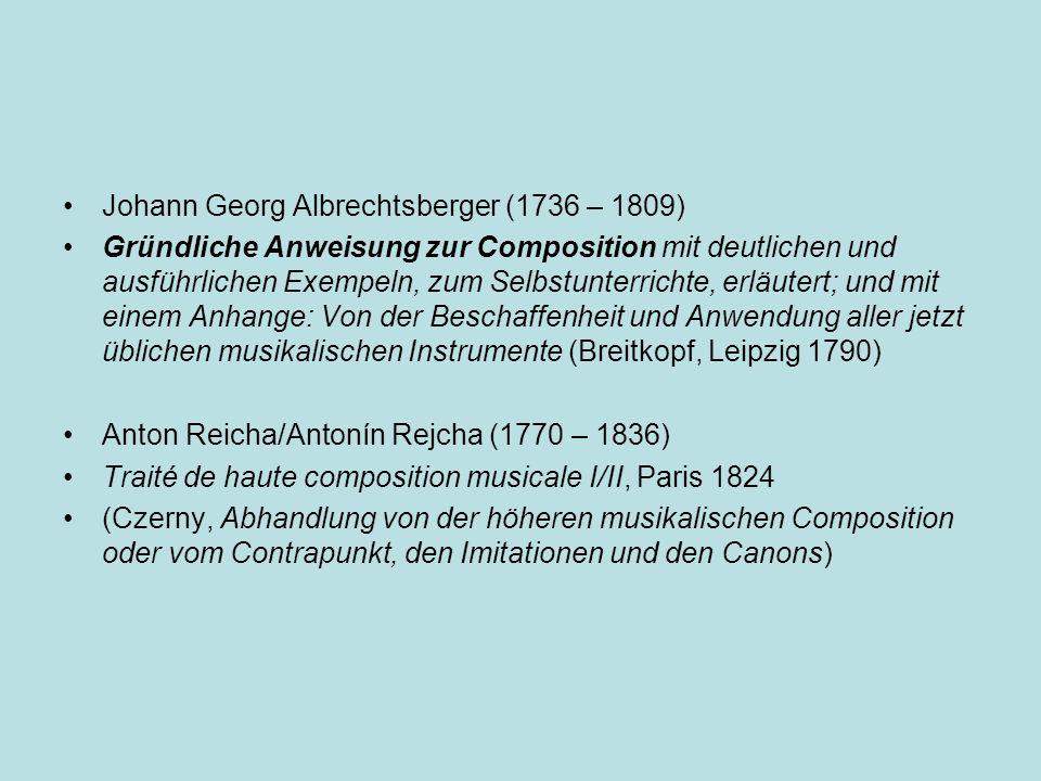 Johann Georg Albrechtsberger (1736 – 1809)