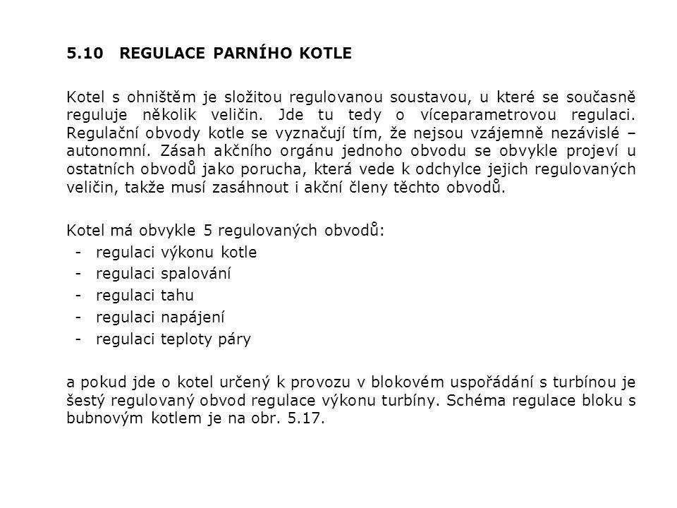 5.10 REGULACE PARNÍHO KOTLE