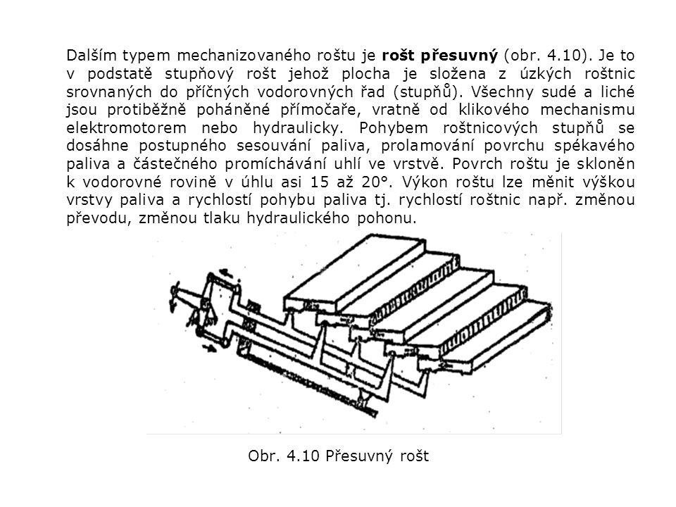 Dalším typem mechanizovaného roštu je rošt přesuvný (obr. 4. 10)