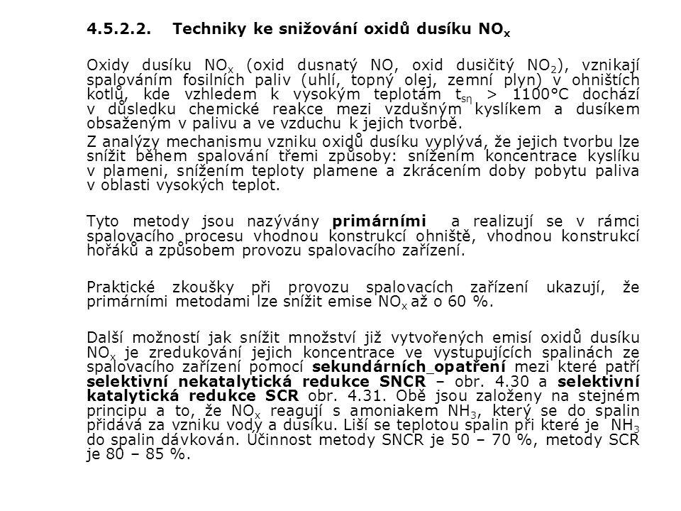 4.5.2.2. Techniky ke snižování oxidů dusíku NOx