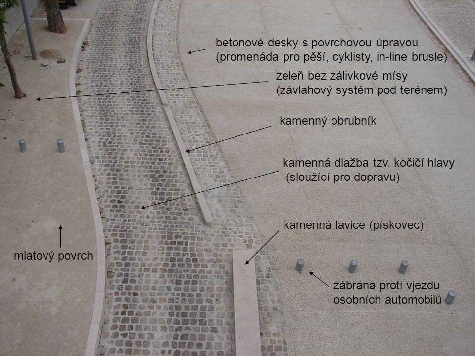 betonové desky s povrchovou úpravou