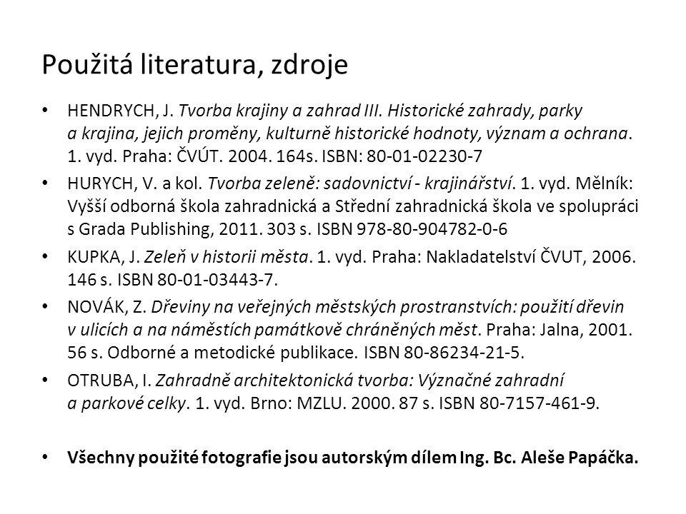 Použitá literatura, zdroje