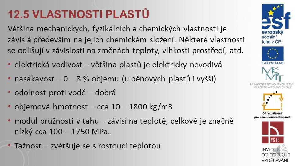 12.5 vlastnosti plastů