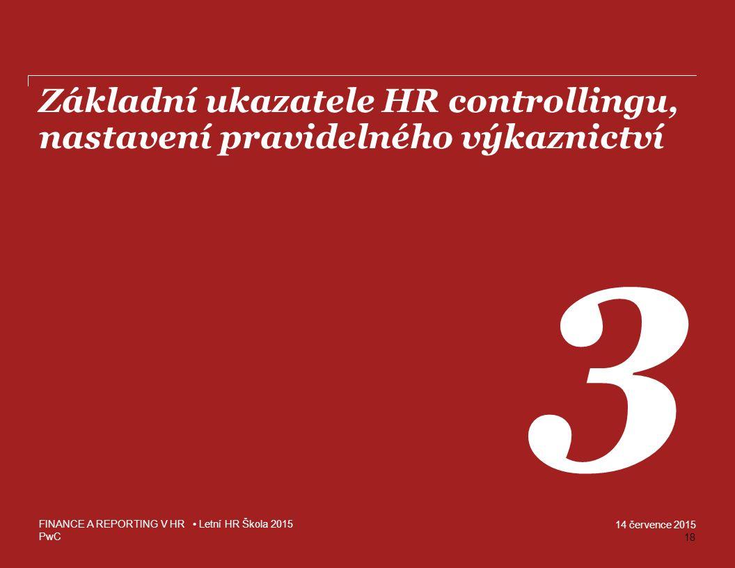 Základní ukazatele HR controllingu, nastavení pravidelného výkaznictví
