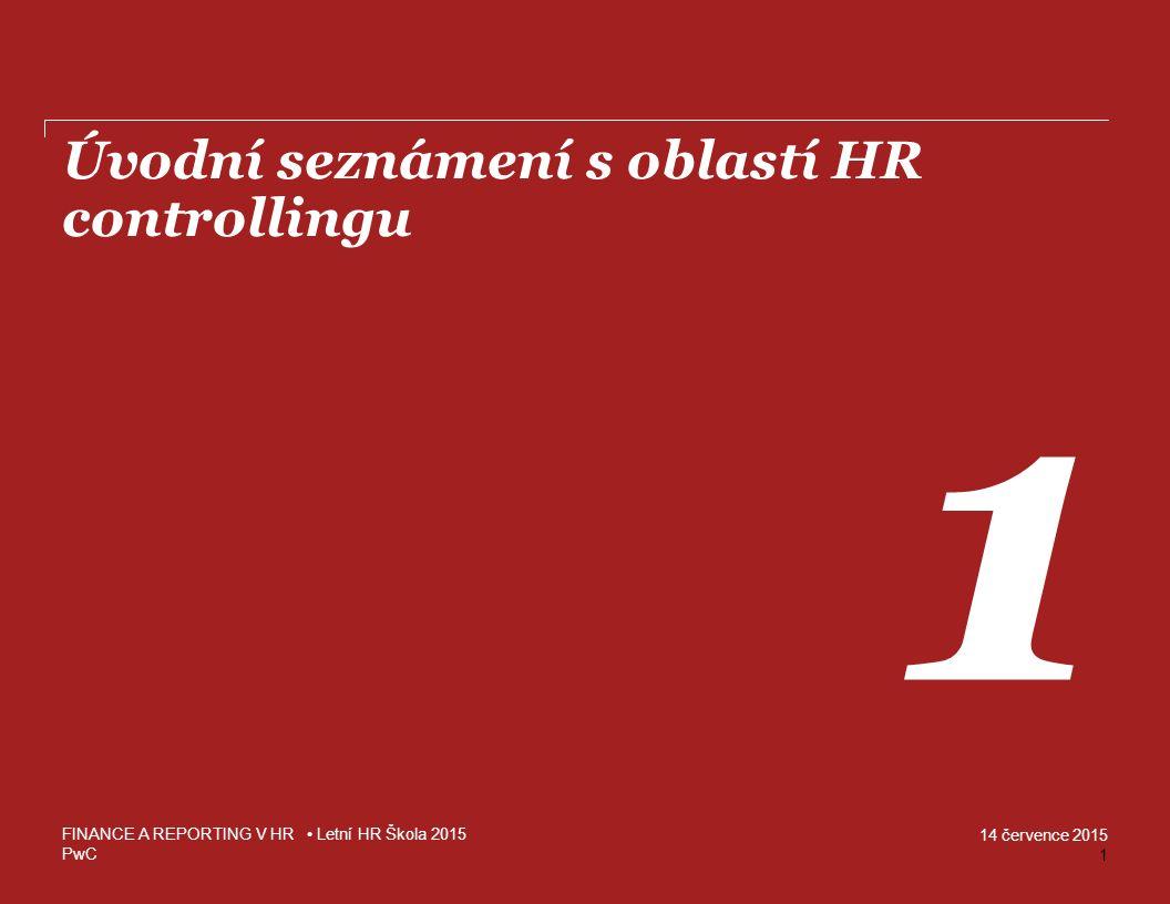 Úvodní seznámení s oblastí HR controllingu