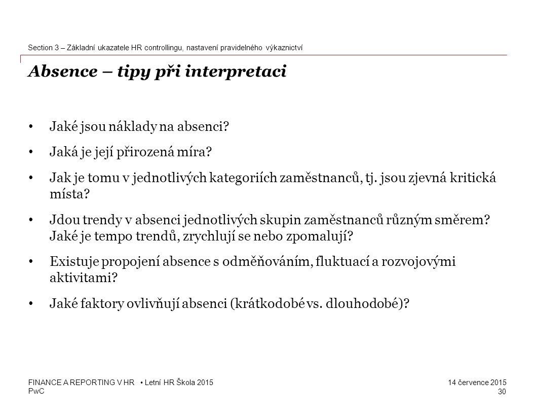 Absence – tipy při interpretaci