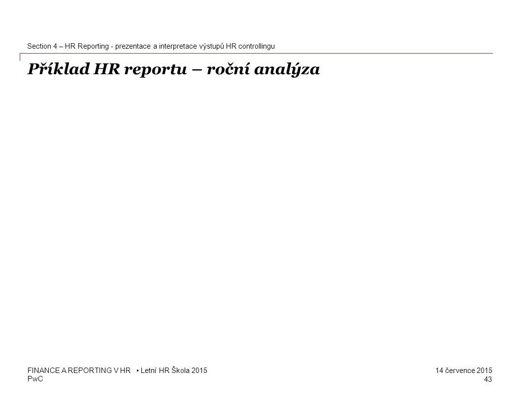 Příklad HR reportu – roční analýza