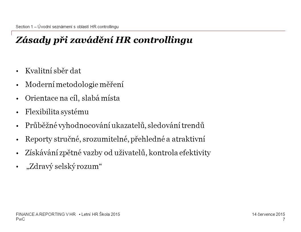 Zásady při zavádění HR controllingu