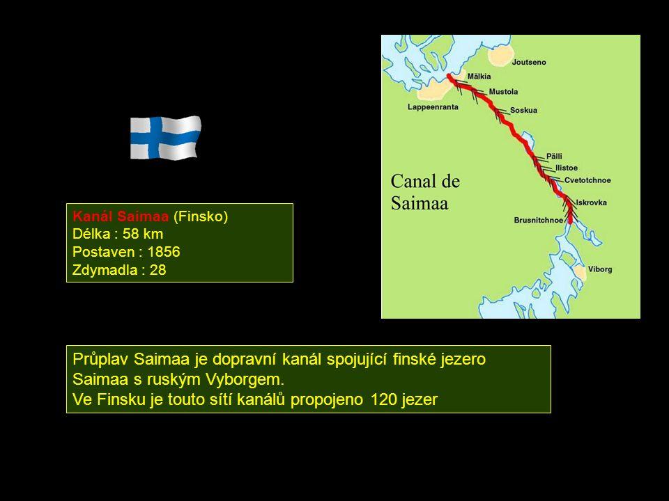 Ve Finsku je touto sítí kanálů propojeno 120 jezer