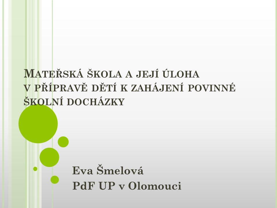 Eva Šmelová PdF UP v Olomouci