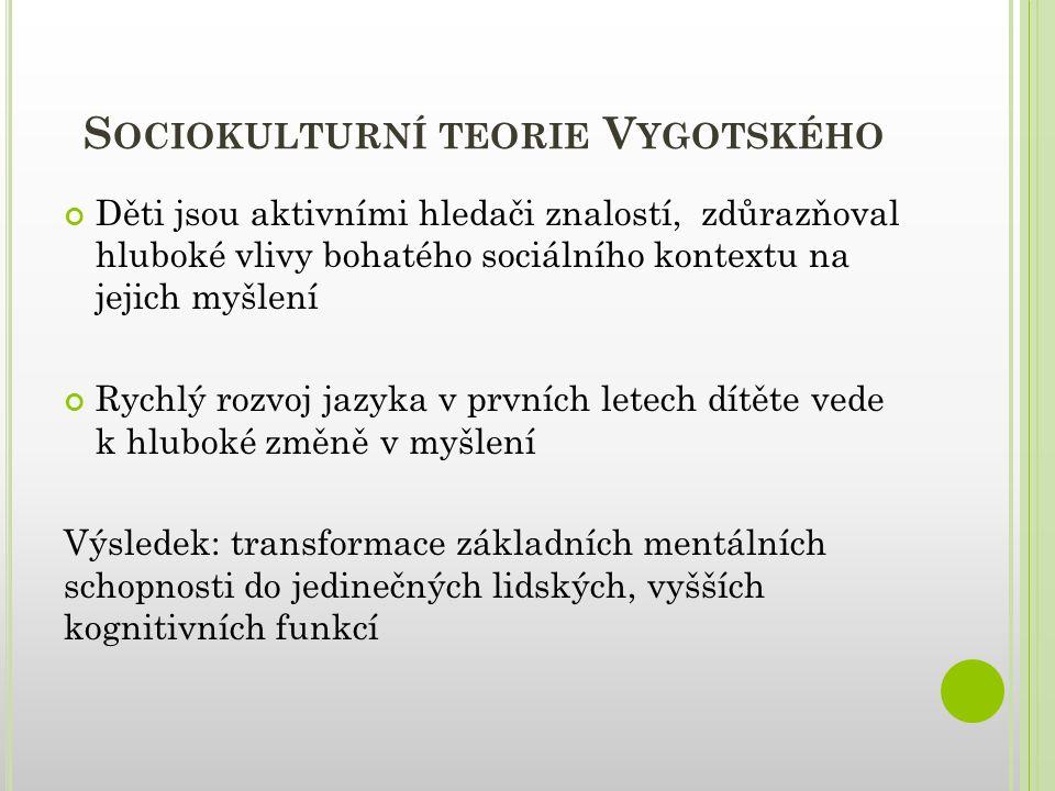 Sociokulturní teorie Vygotského