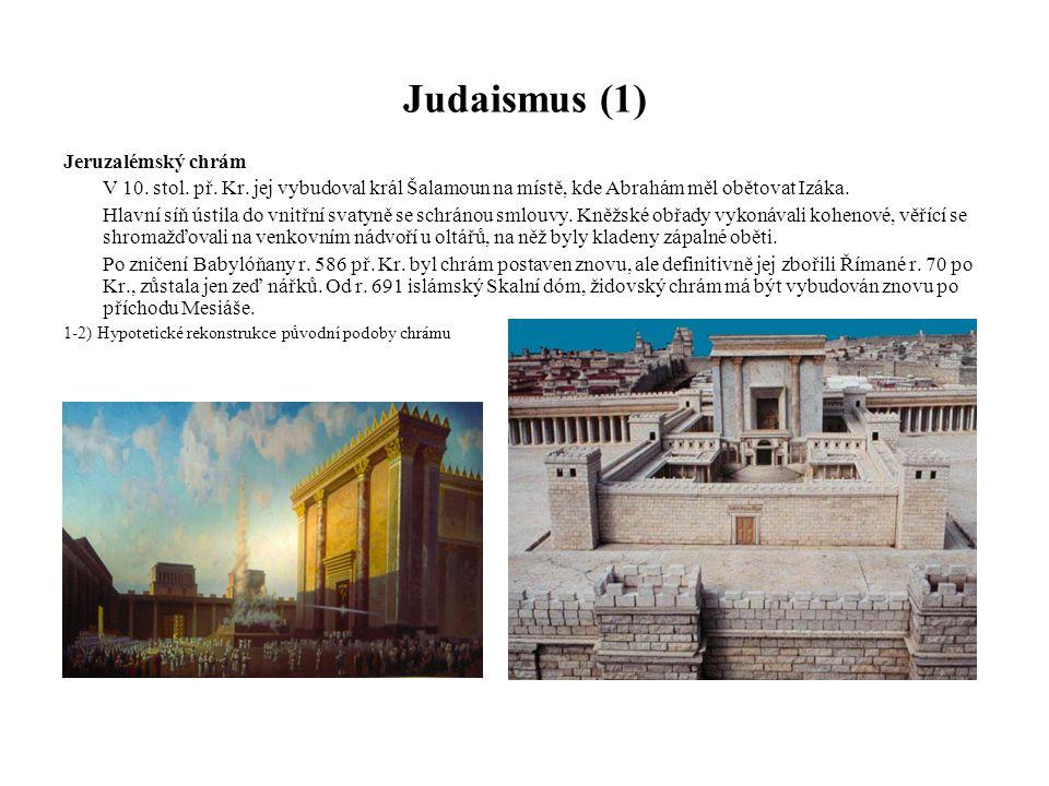 Judaismus (1) Jeruzalémský chrám