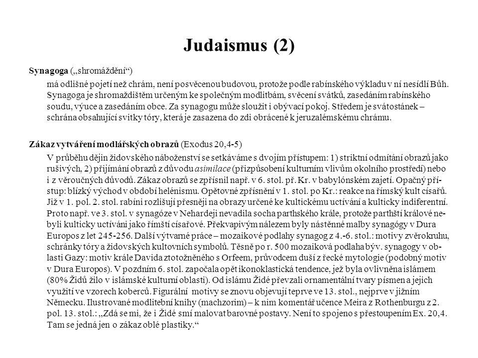 """Judaismus (2) Synagoga (""""shromáždění )"""
