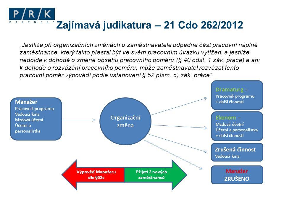 Zajímavá judikatura – 21 Cdo 262/2012