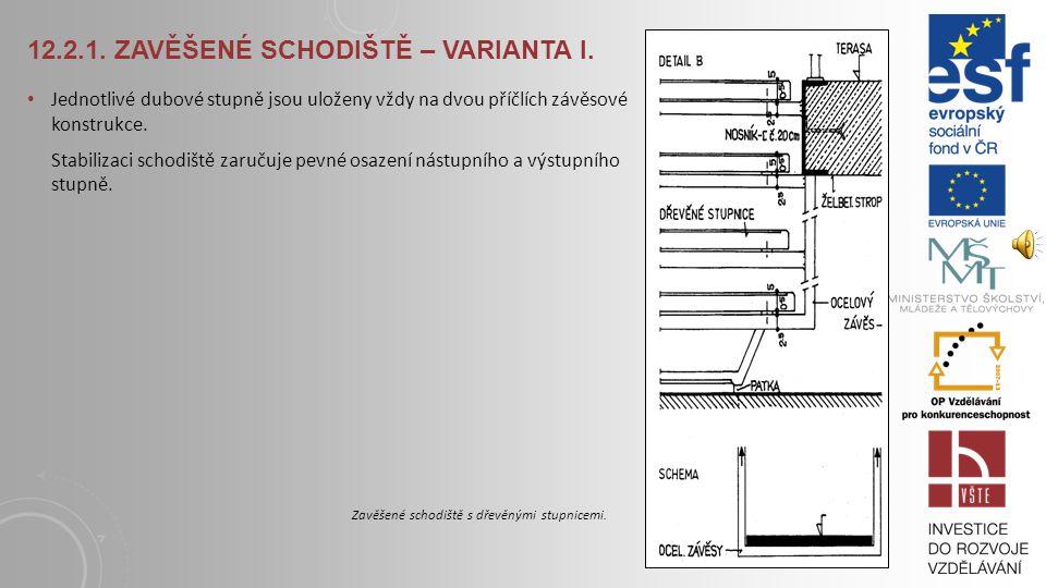 12.2.1. Zavěšené schodiště – varianta I.