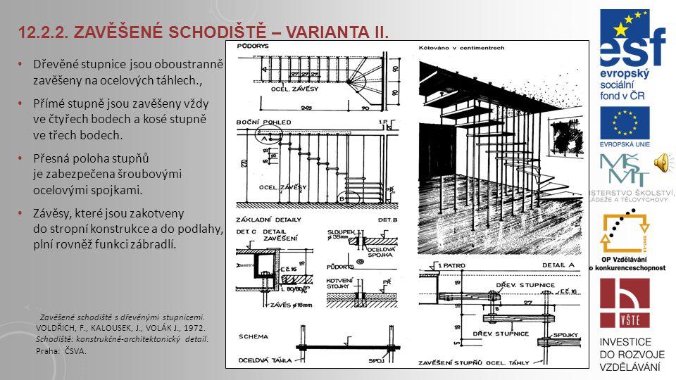 12.2.2. Zavěšené schodiště – varianta II.
