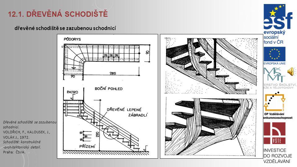 12.1. Dřevěná schodiště dřevěné schodiště se zazubenou schodnicí