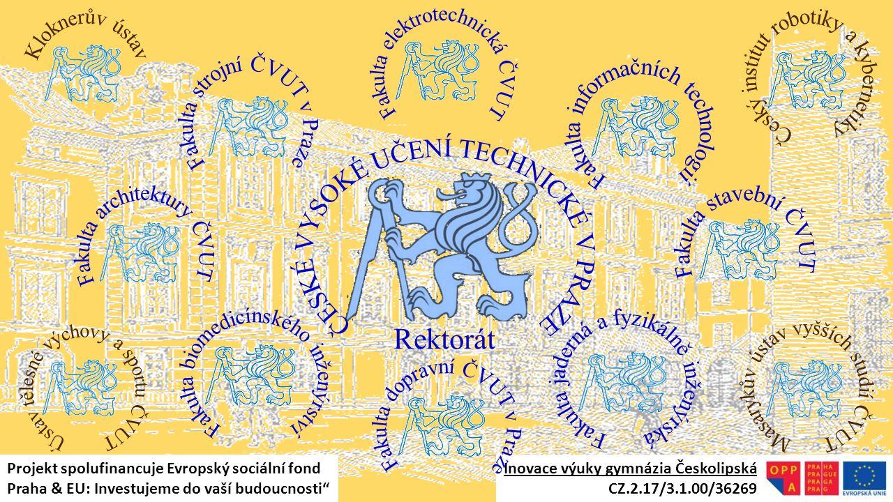 Fakulta elektrotechnická ČVUT Český institut robotiky a kybernetiky