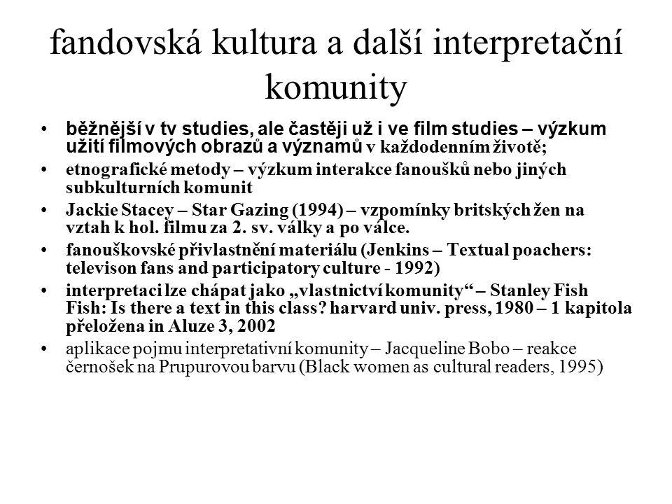 fandovská kultura a další interpretační komunity