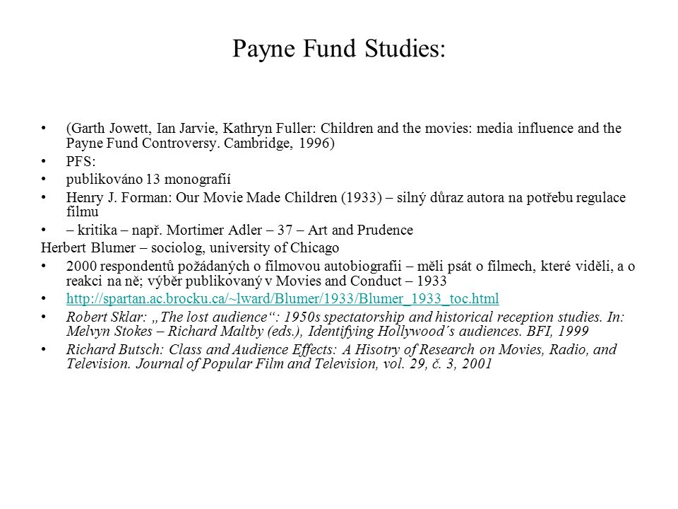 Payne Fund Studies:
