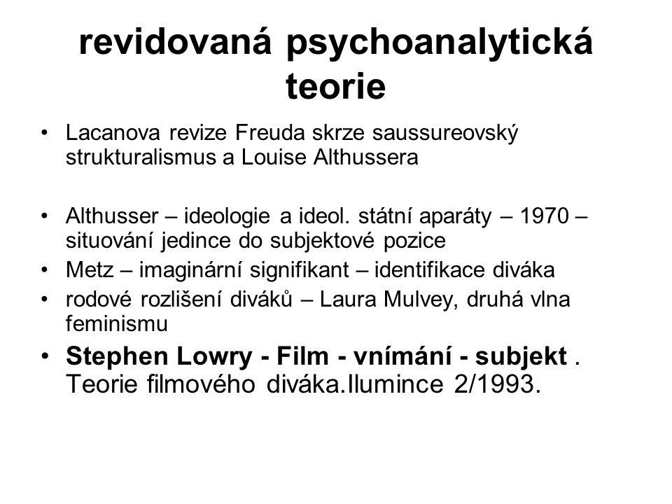 revidovaná psychoanalytická teorie