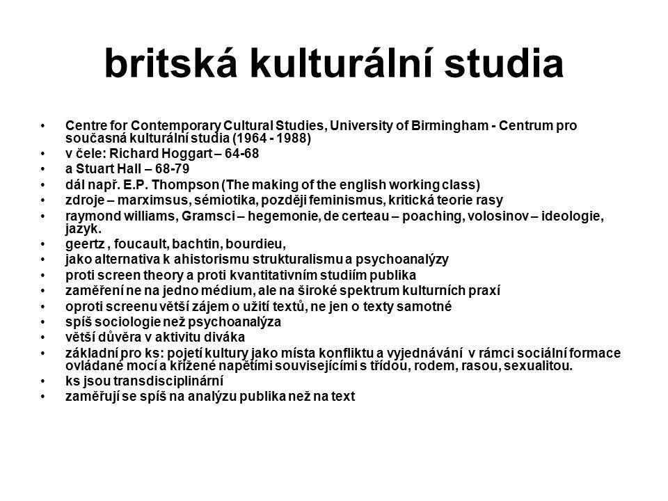 britská kulturální studia