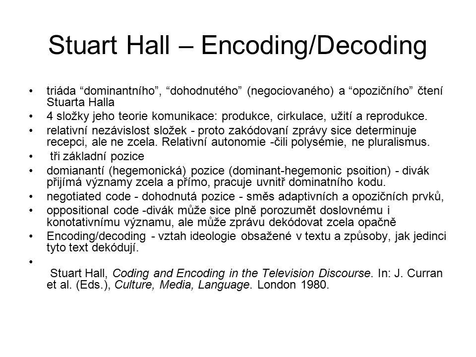 Stuart Hall – Encoding/Decoding