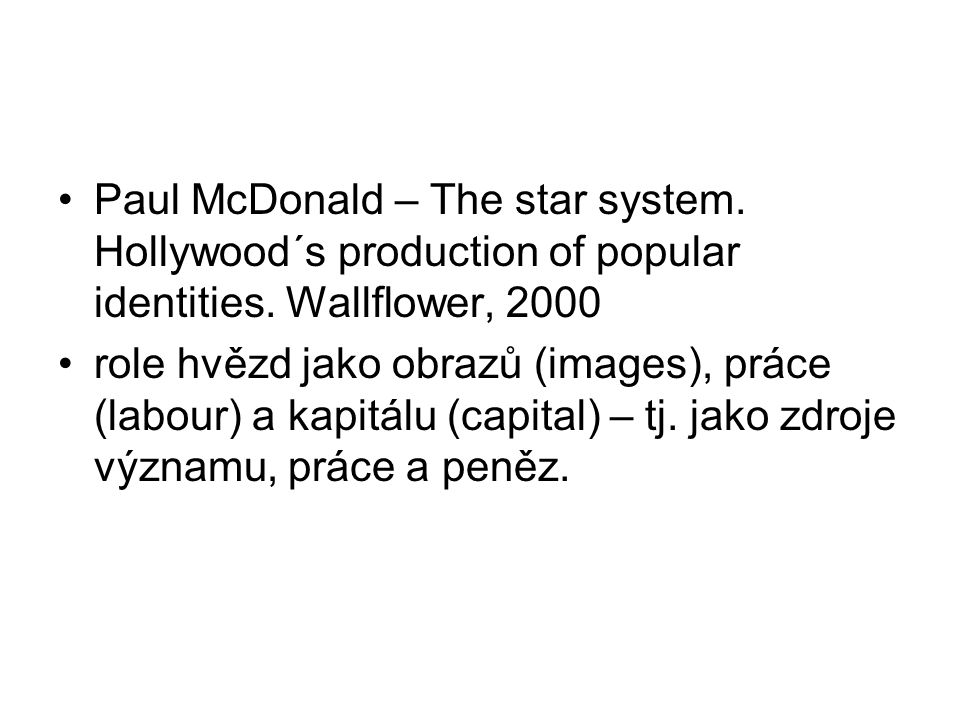 Paul McDonald – The star system