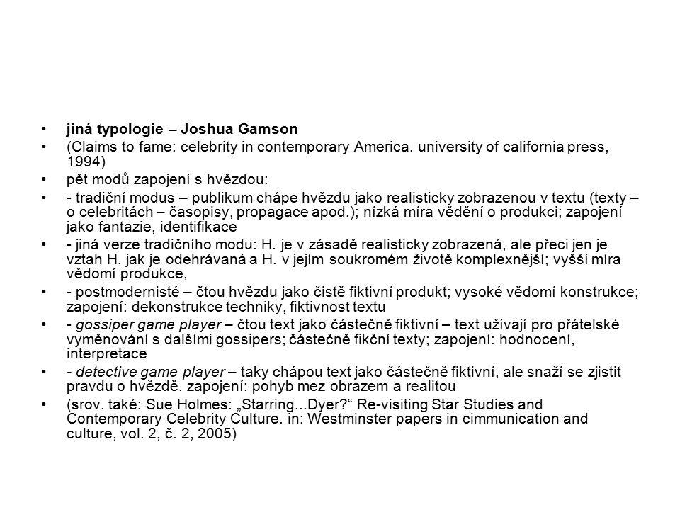 jiná typologie – Joshua Gamson