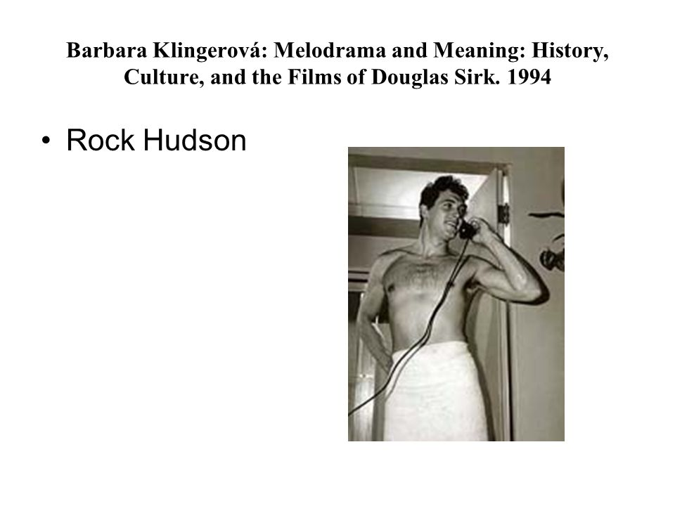 Barbara Klingerová: Melodrama and Meaning: History, Culture, and the Films of Douglas Sirk. 1994