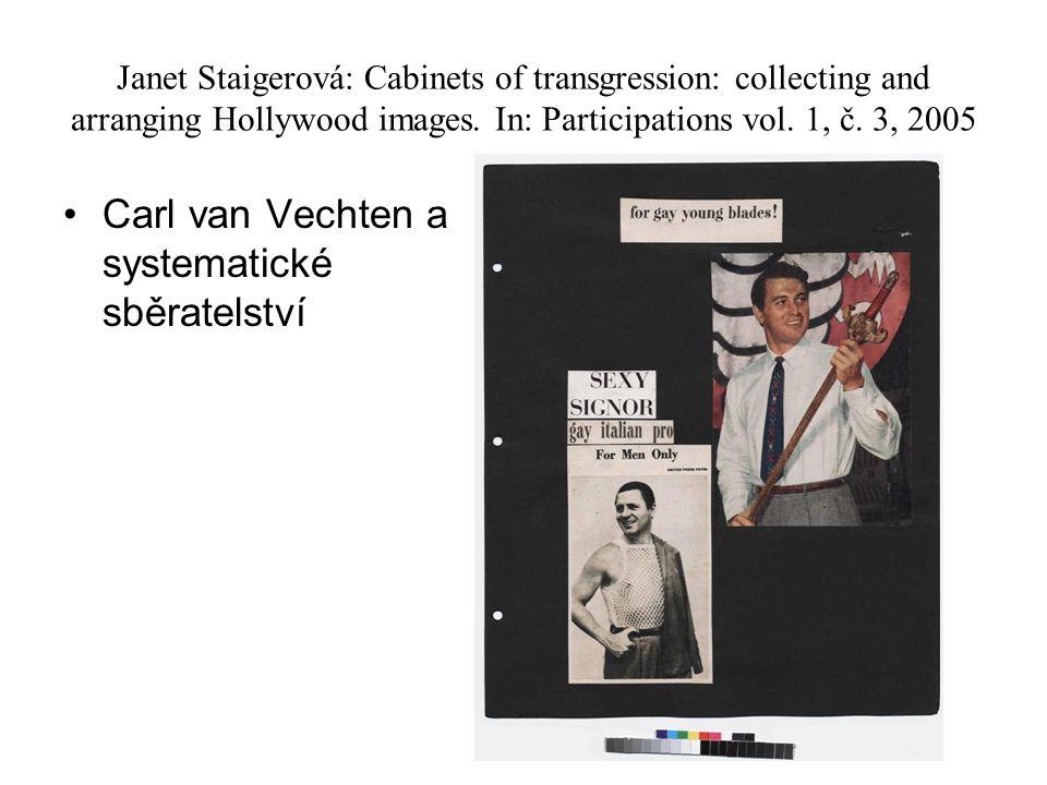 Carl van Vechten a systematické sběratelství
