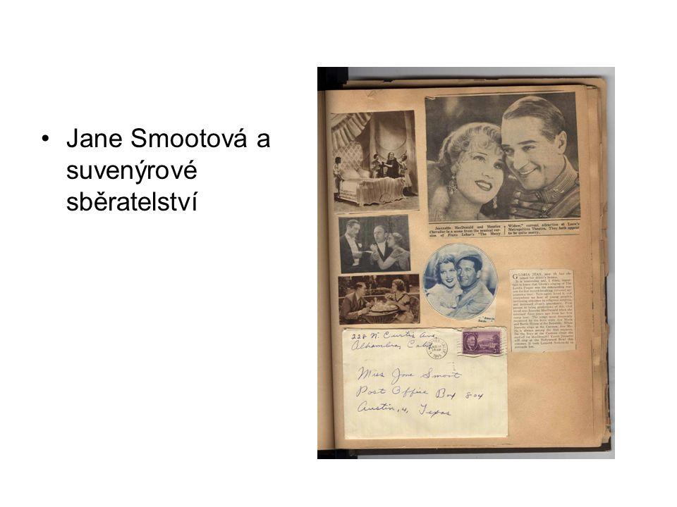 Jane Smootová a suvenýrové sběratelství