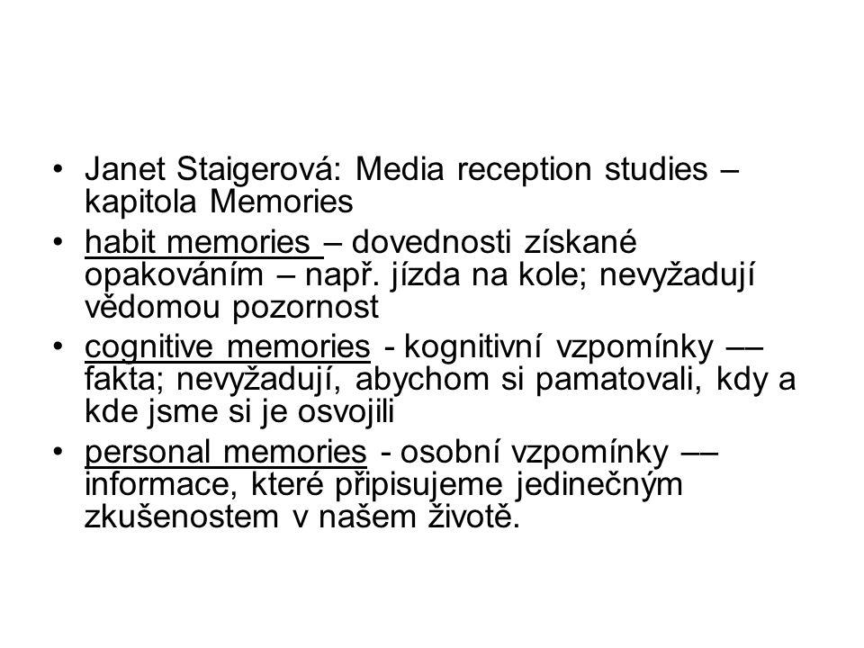 Janet Staigerová: Media reception studies – kapitola Memories
