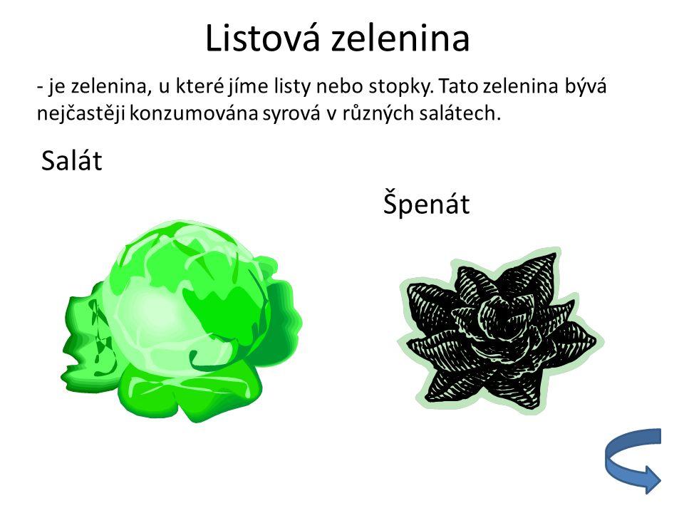 Listová zelenina Salát Špenát