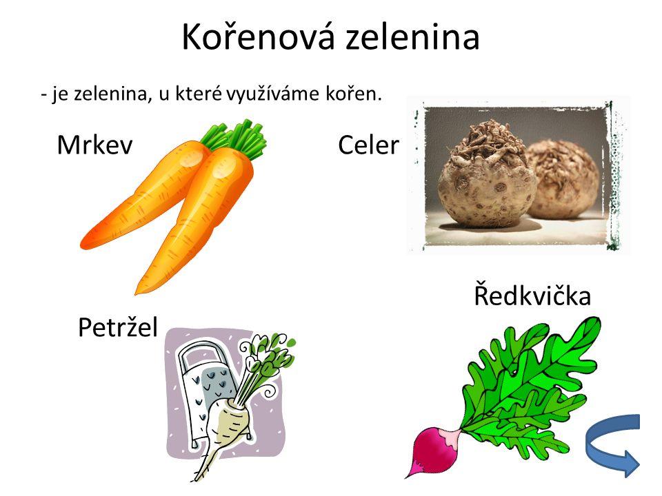 Kořenová zelenina Mrkev Celer Ředkvička Petržel