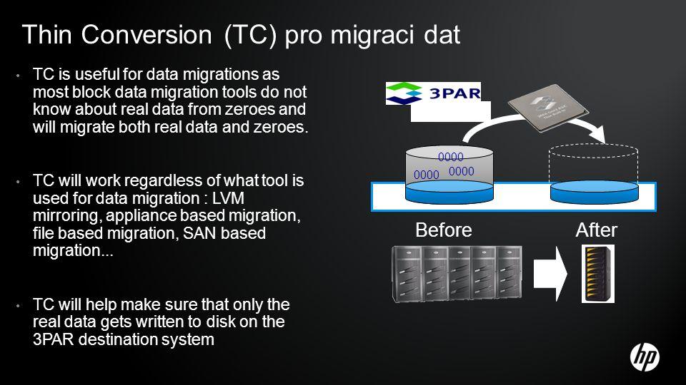 Thin Conversion (TC) pro migraci dat