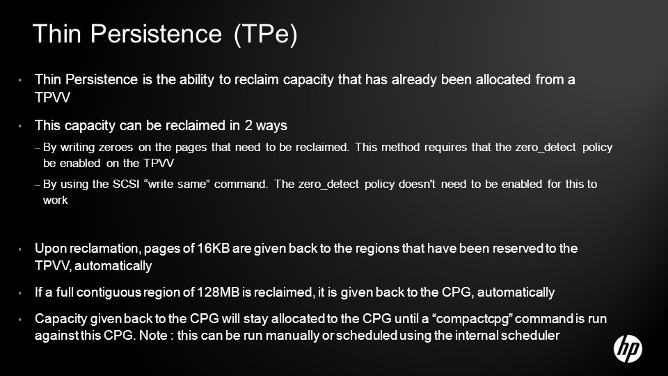 Thin Persistence (TPe)