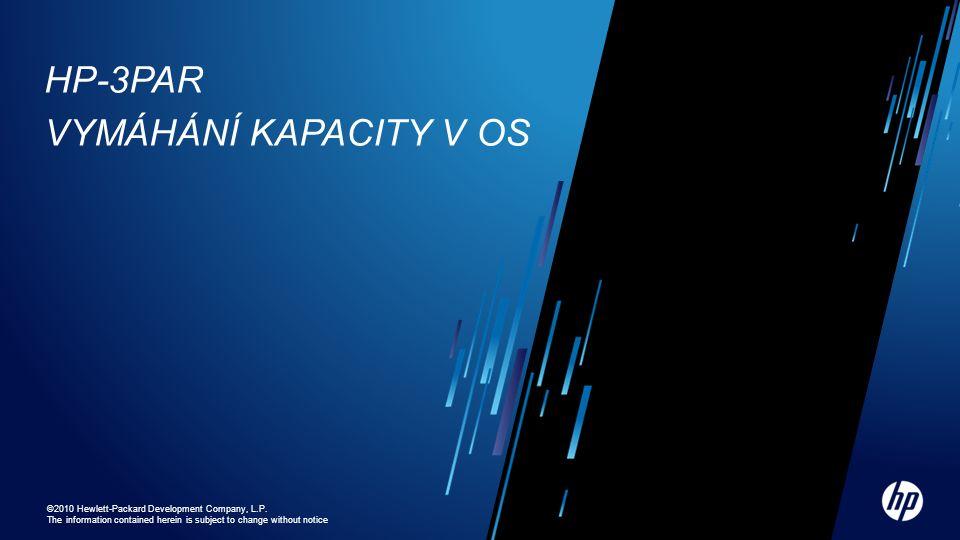 HP-3PAR Vymáhání kapacity v OS