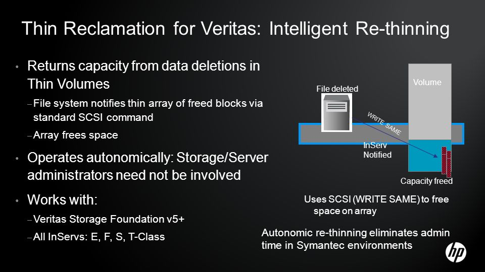Thin Reclamation for Veritas: Intelligent Re-thinning