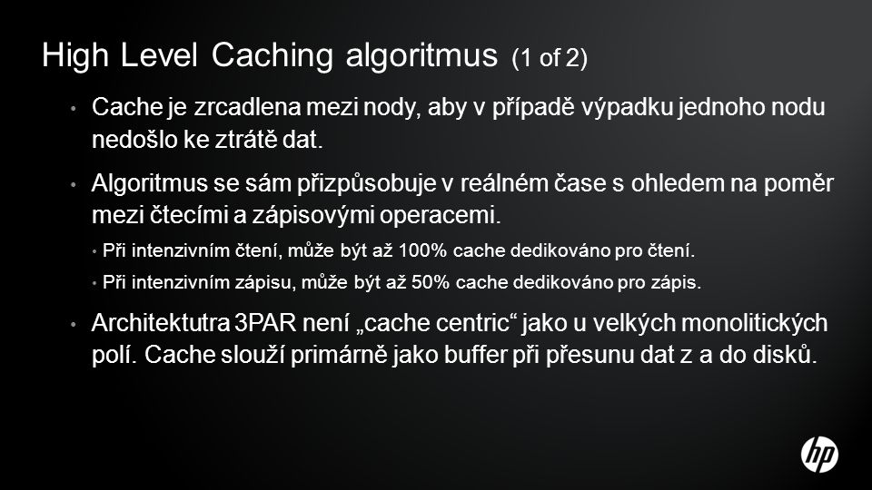 High Level Caching algoritmus (1 of 2)
